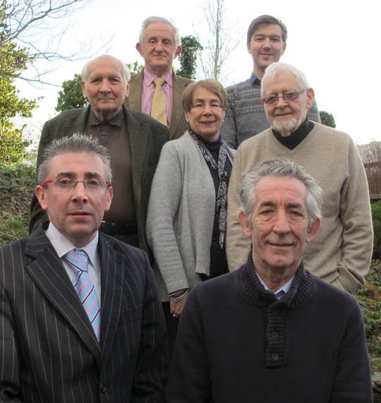 Cllr Patrick Clarke, front left, with S. Down Alliance Committee members, left to right – Dr Brian Eggins, David Griffin, Mary Smyth-Farr, Sam Nelson (Campaigns Officer), David Crory and Dr Michael Healy.