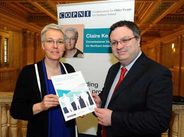 Commissioner Claire Keatinge, Minister for Employment and Learning, Dr Stephen Farry MLA.