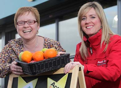 Lucy McCusker, Action Cancer Events Officer and Nikki McDowell, Centra Brand manager, atr the launch