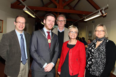 At the recent St Patrick's Conference held in the Down County Museum in Downpatrick were Mike King, Museum Curator, Cllr Gareth Sharvin, Vice Chairman of Down District Council, Finbar McCormick, archaeologist, South Down MP Margaret Ritchie and Johanna Vuolteenaho, NIEA.The museum has a full plan of activities for Easter.