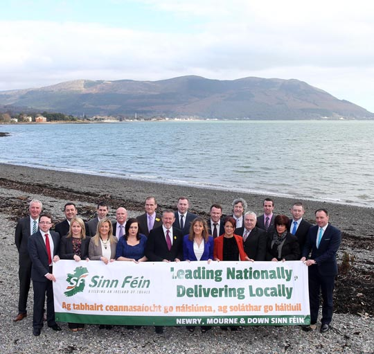 The council candidates for Sinn Féin in South Down pictured in Warrenpoint.