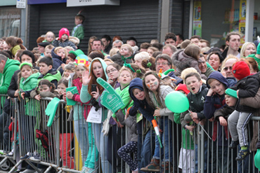 Over 30,000 people attended the St Patrick's day parade.