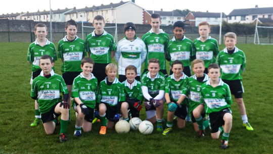 Aughlisnafin U-14's Squad that defeated Drumaness recently