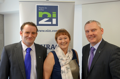 Annette Holden, centre, N121 candidate for the Mournes,  pictured with Alistair Straney and South Down MLA John McCallister (Deputy Leader).