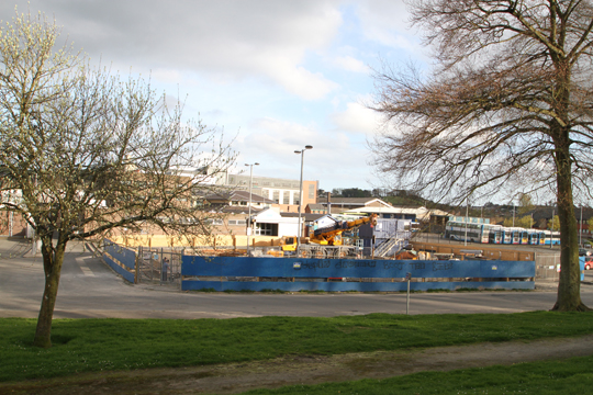A holding tank is being constructed in the Market Street Car Park.