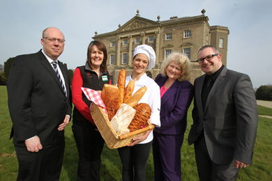 The third bread festival is just round the corner.  Peter McVerry, U105, Jacqui Baird and  Ruth Robinson, Castle Ward, Michelle Shirlow, Food NI and Russell Whittaker, NITB, launch  the International Bread Festival at Castle Ward for Monday 5 May.