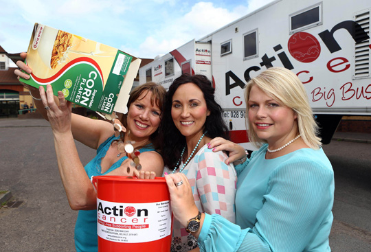 Nuala McKeever with Action Cancer's Kerry Anderson and SuperValu Marketing Manager Donna Morrison.