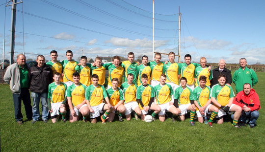 The Ardglass 2014 senior squad at Ardtole.