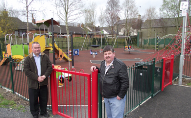 Down District Councillors Terry Andrews (SDLP) and Billy Walker (DUP) has appealed to people not to take dogs into playgrounds following complaintes of fouling in the new Saintfield play area.