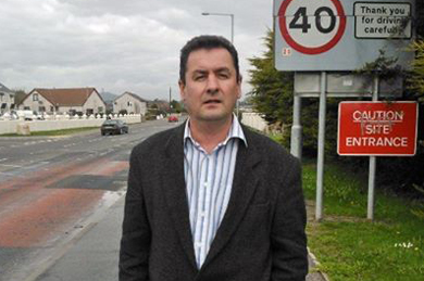 Sinn Féin Cllr Willie Clarke concerned at the sewage spill in Newcastle.