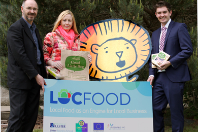 Conference organisers, David Patterson (Down District Council); and Lynsey McKitterick (University of Ulster) met with Craig Blaney of The Good Little Food Company to launch the forthcoming Locfood conference to be held in Ballynahinch, Friday 13 June 2014.