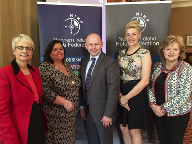 Margaret Ritchie SDLP South Down MP, Mandy Patrick, President NIHF, Mark Kelly, Warrenpoint, Burren and Rostrevor Chamber of Commerce, Deborah Loughran, Newry Chamber of Commerce and Pamela Houston, Kilkeel Development Association