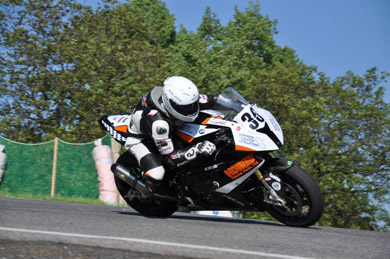 Michael Pearson, recovering from a serious crash and critical injuries last weekend,  broke the track record at the Horice Road Races in the Czech Republic in 2013 (Photo by Paval Koli).