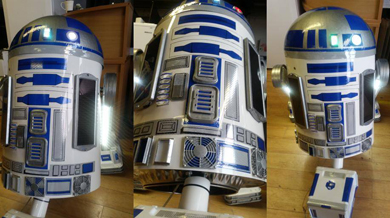 R2-D2 has been given a make-over by the innovative team at DR Electric in Carryduff.