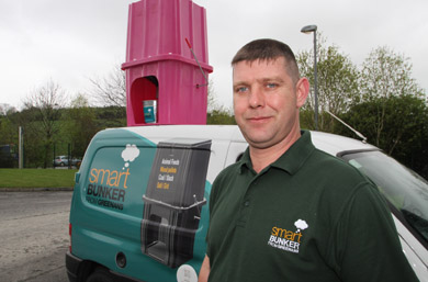 Spot and photo the Smartbunker on the van: Niall Greenan from Castlewellan who invented the Smartbunker has donated one for a special draw for Breast Cancer Charity Pretty in Pink.