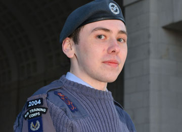 Ballynahinch Cadet Michael Colligan pictured at the iconic Menin Gate.
