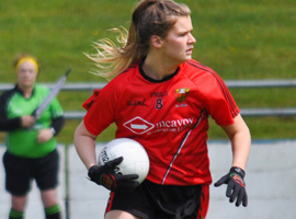 Megan Doherty played her part in the Down victory over Fermanagh.