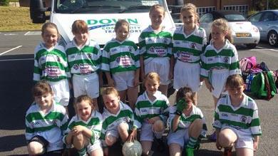 The RGU U-10 girls team at St Gall's.