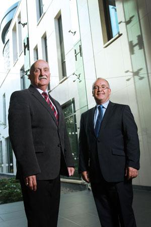 Presiding Councillor Charlie Casey and Deputy Presding Councillor Declan McAteer.