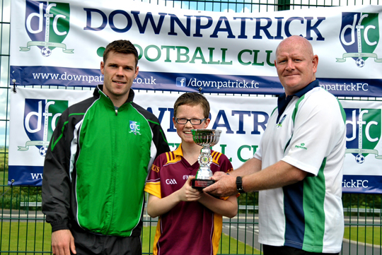 Gerard Collins and PAt Moore with the team captain.