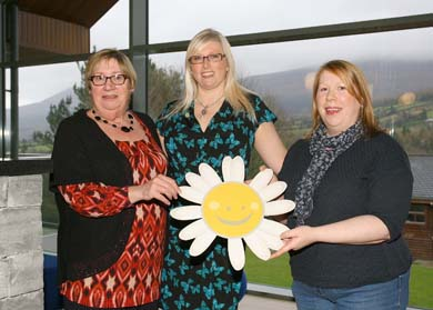 Celia and Karen Bodel with Cancer Fund for Children fundraiser Ana Wilkinson (centre).