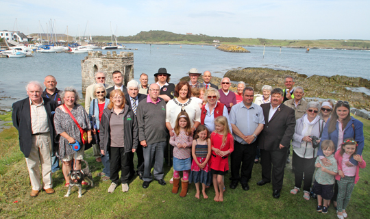 A crowd gathers for the official relaunch of the Ardglass Bathing House following a £27,000 refurbishment.
