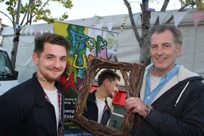Malachy Kenny and Manus Teague from Pop Up Art.