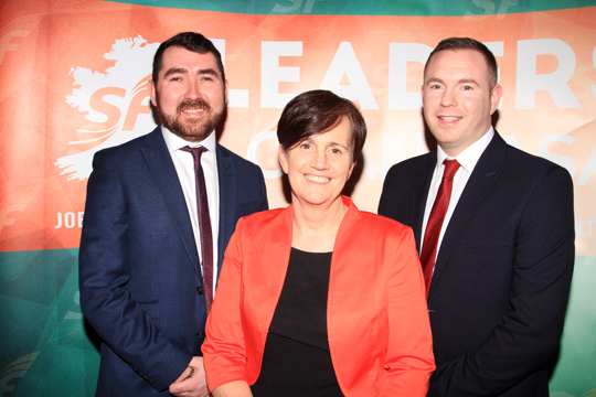 Sinn FéŽin has announced their three candidates for the South Down May 2016 Assembly election: from left, Michael Gray-Sloan, Caitriona Ruane and Chris Hazzard.