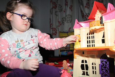 Caiomhe Burns (3) from near Kurcubbin is losing her sight through a rare genetic illness.