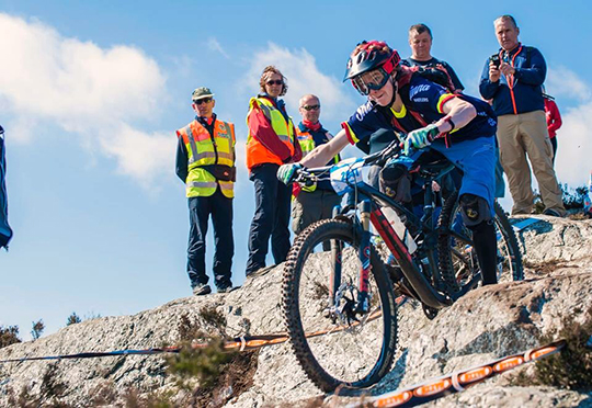 Aidan Hawkins at the Enduro World Series on Carrick Mountain.
