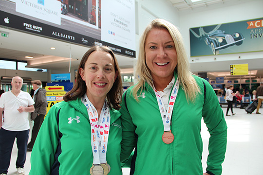 Kathryn Glover (left) from Ballygowan, won 2 gold and 3 silver for swimming and tennis, and Sharon Millar, from Warinsgtown, won bronze for long jump.