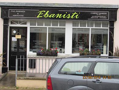 Race sponsor Ebanisti premises in high St Killyleagh.