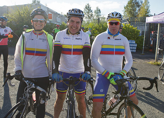 Roisin Wilson, Peter Mulligan and Eddie Doyle cycled for AMK in the Granite Trail.