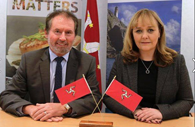 The Manx Fisheries Minister with NI DAERA Minister Michelle MCIlveen.