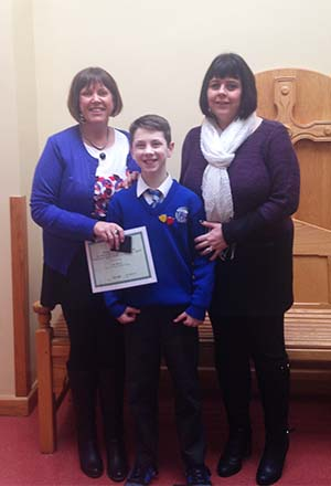 Leo Rice – Christ the King photographed with Mrs Veronica Woods & Mrs Jackie Bogues (SMHS).