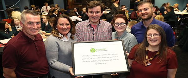 Young people of AumniNI tell MLA\'s at a session at Stormont to ListenUP!