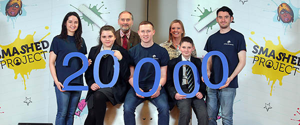 Blackwater Integrated College saw the 20,000th milestone reached In NI for the Smashed alcohol awarenesss programme.